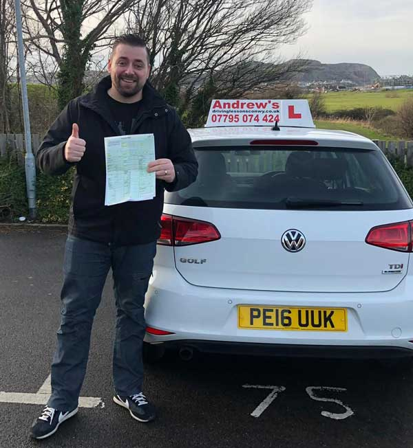 ADI Part 2 test pass for tomas from North Wales