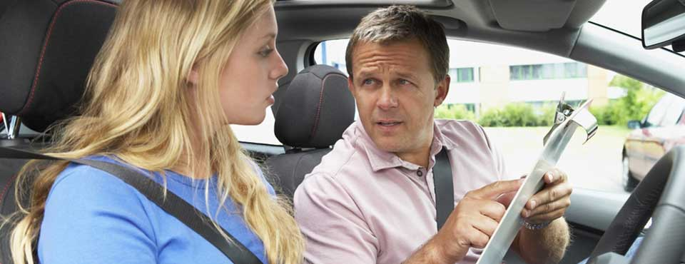 Working as a driving instructor