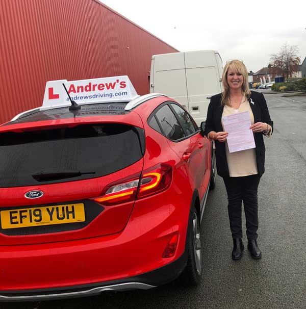 Caroline's part 3 driving instructor test passed.